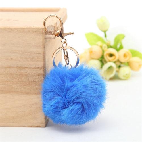 PomPom Fur Ball Keychain