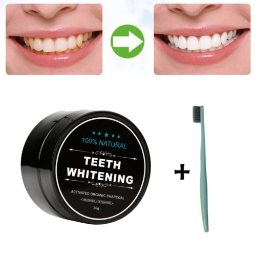 Natural Organic Activated Charcoal Teeth Whitening Powder