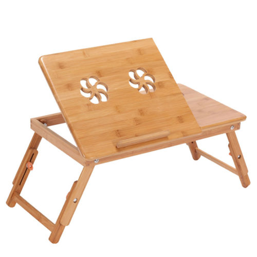 Wooden Bamboo Laptop Table Lap Desk