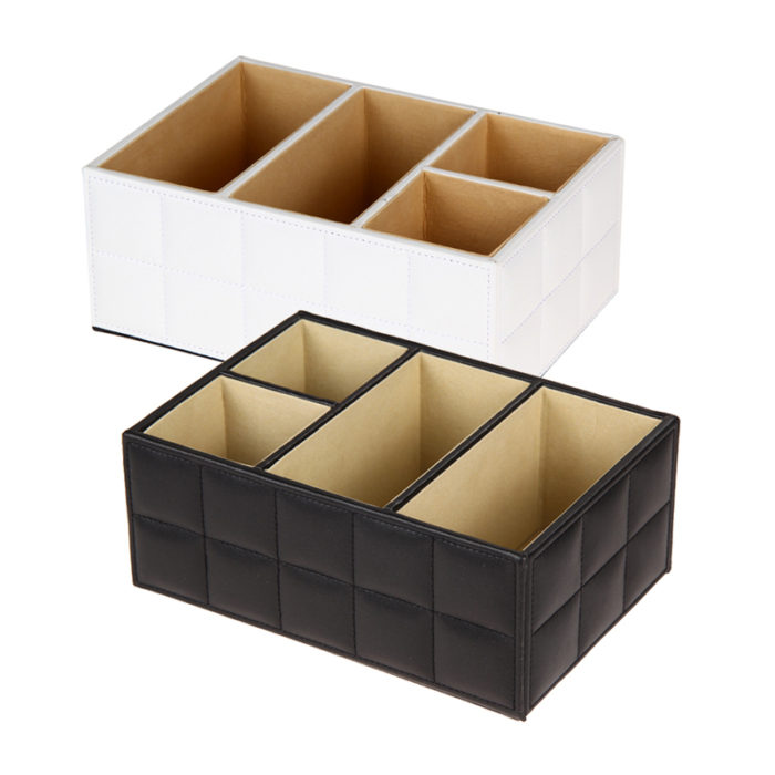 Leather Cube Storage Trunk