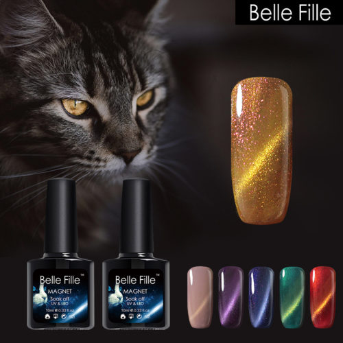 Gel Nail Polish - Belle Fille Magnetic Cat Eye Gel Nails