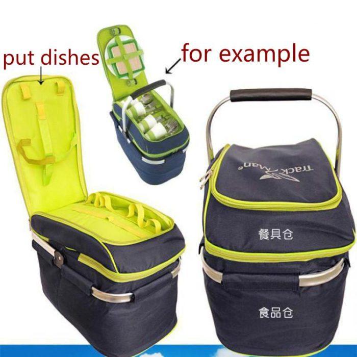 Portable Picnic Basket Set