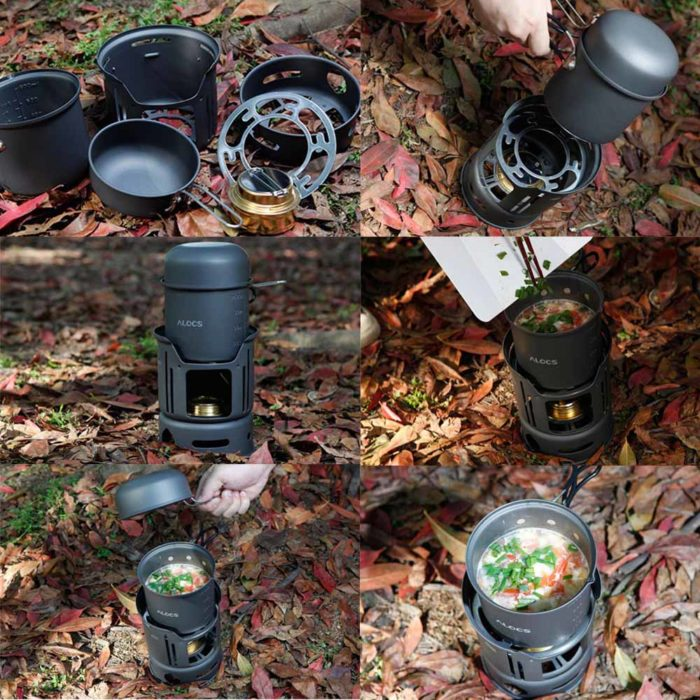 Camping Kitchen Cookware Set