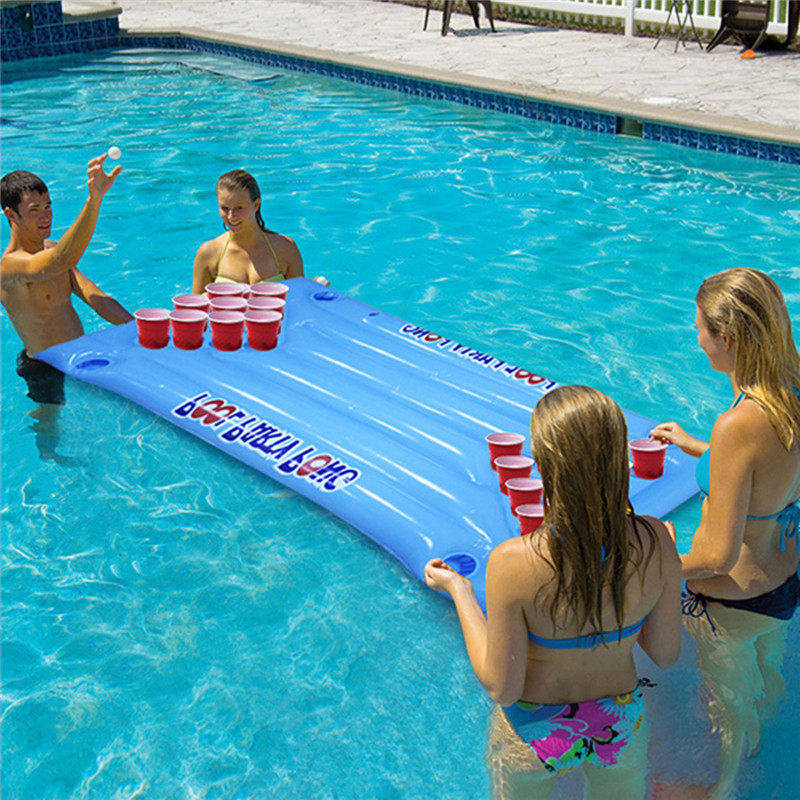 inflatable floating pool beer pong table life changing products