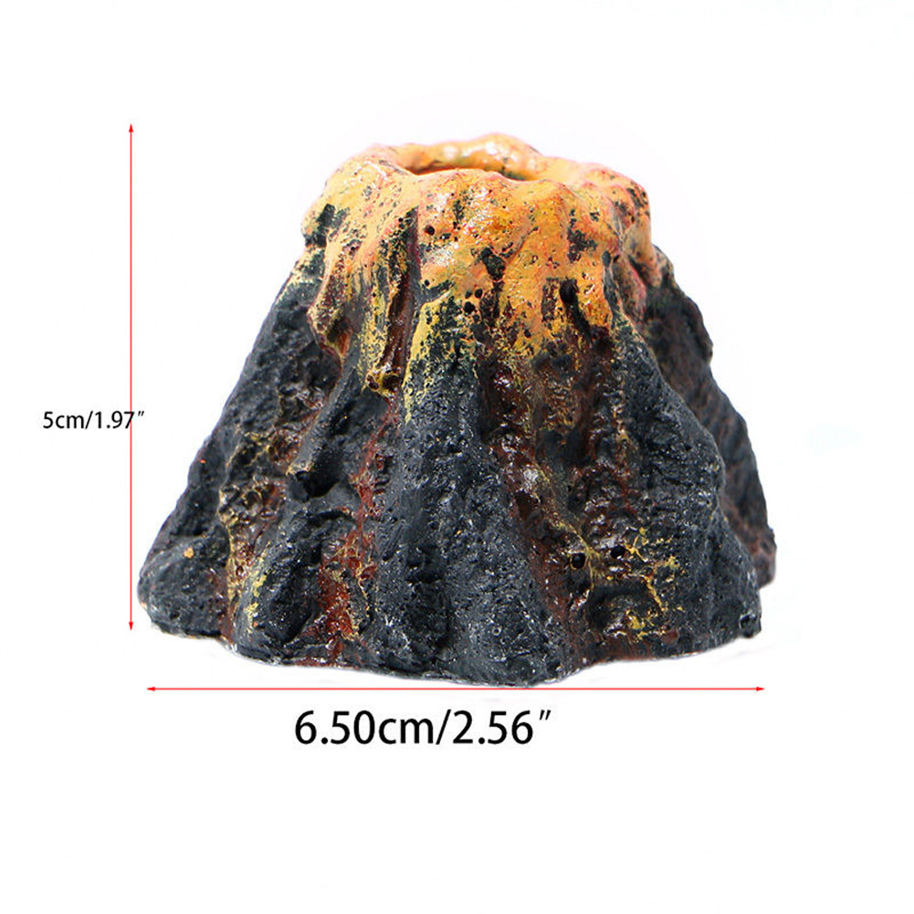 Volcano fish tank decoration oxygen source for aquatic animals for Fish tank volcano