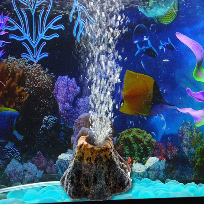 Volcano Fish Tank Decorations