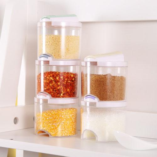 Transparent Spice Jars