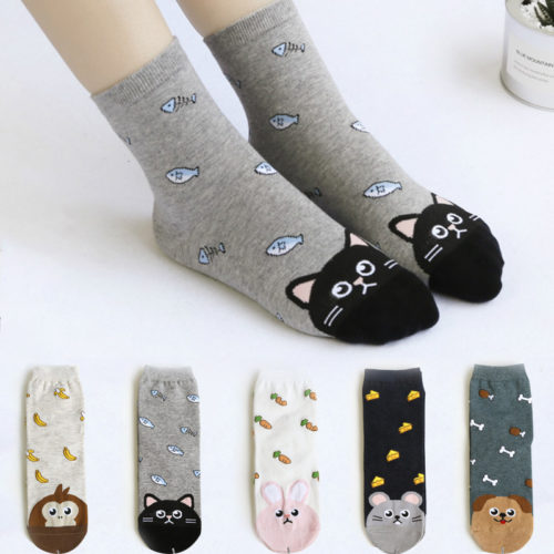 Cute Animal Design Ankle Socks