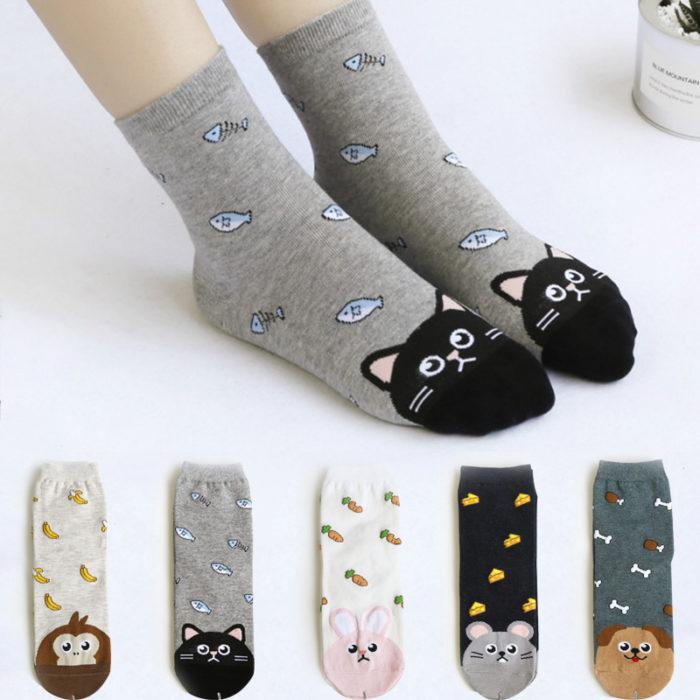 Cute Animal Design Ankle Socks