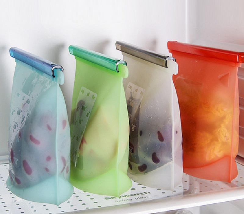 Silicone Ziplock Bags Sealing Storage Bags For Fresh Food