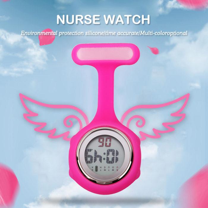 Silicone Digital Nurses Watch