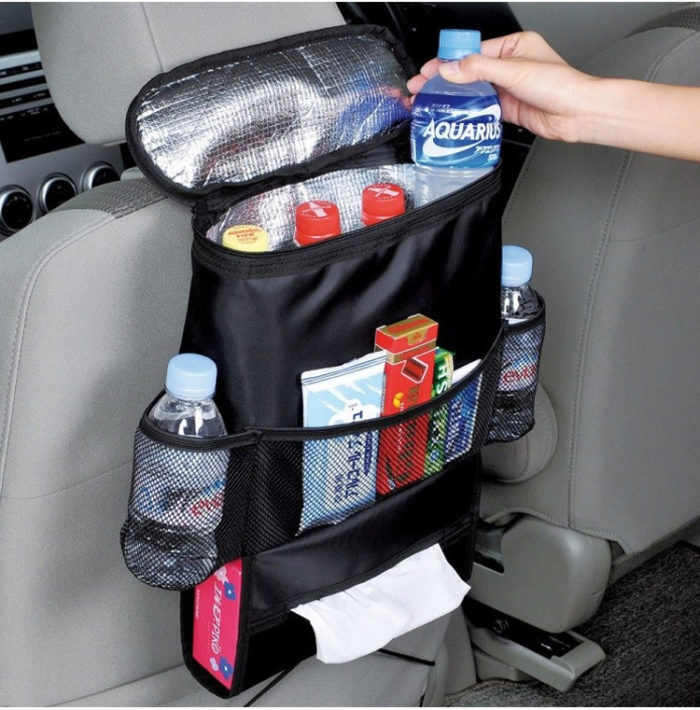 Car Back Seat Storage Organizer