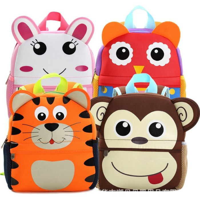 3D Animal Design Kids and Toddler Backpack