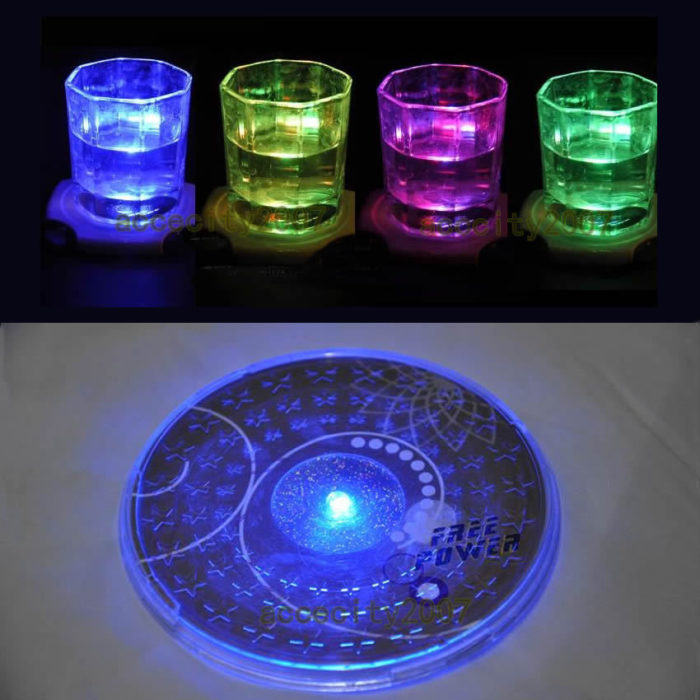 LED Light Up Drink Coasters