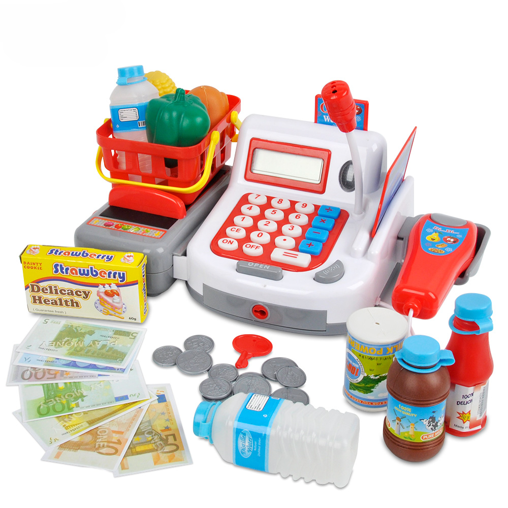 Pretend Play Cash Register Toy Multifunctional Toy For Kids