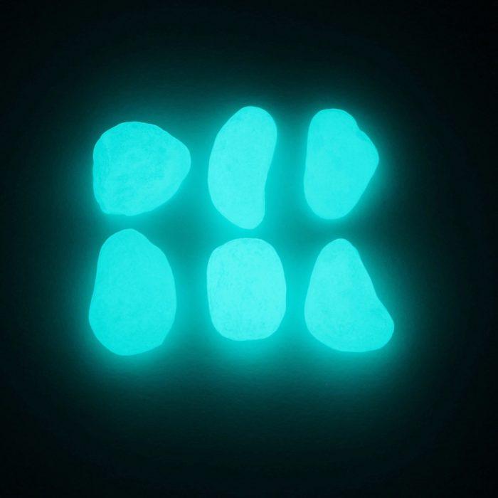 Luminous Glow In The Dark Garden Pebble Stones