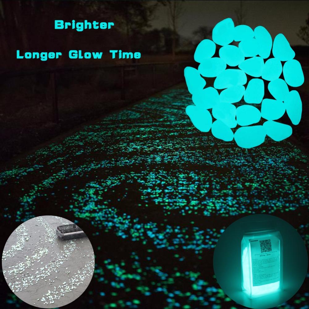 Luminous glow in the dark garden pebble stones set of 50 life changing products for Glow in the dark garden pebbles