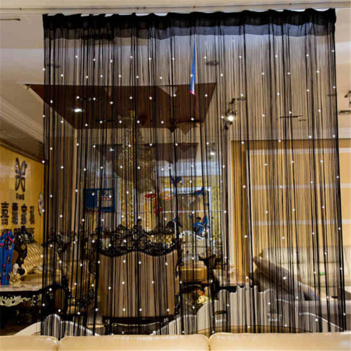 Hanging Crystal Beaded String Door Curtains