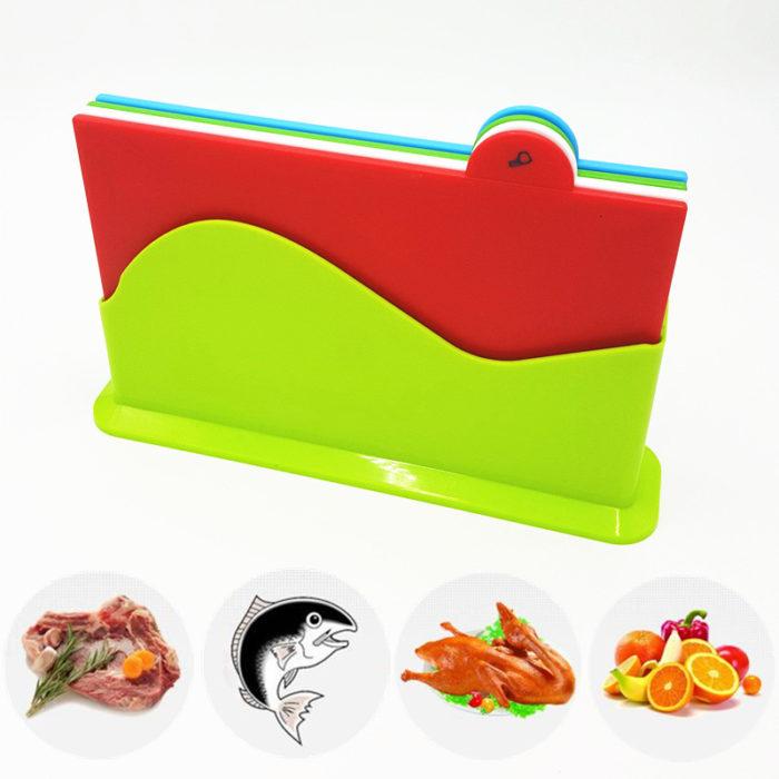 Set of 4 Kitchen Chopping Board Cutting Board