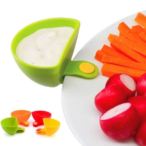 Colorful Clip On Dip Bowl Set