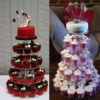5 Layer Tiered Cup Cake Display Stand
