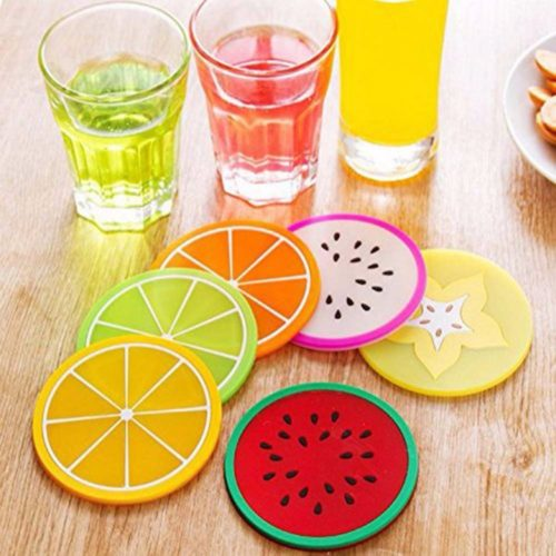 Silicone Drink Coasters Fruit Design