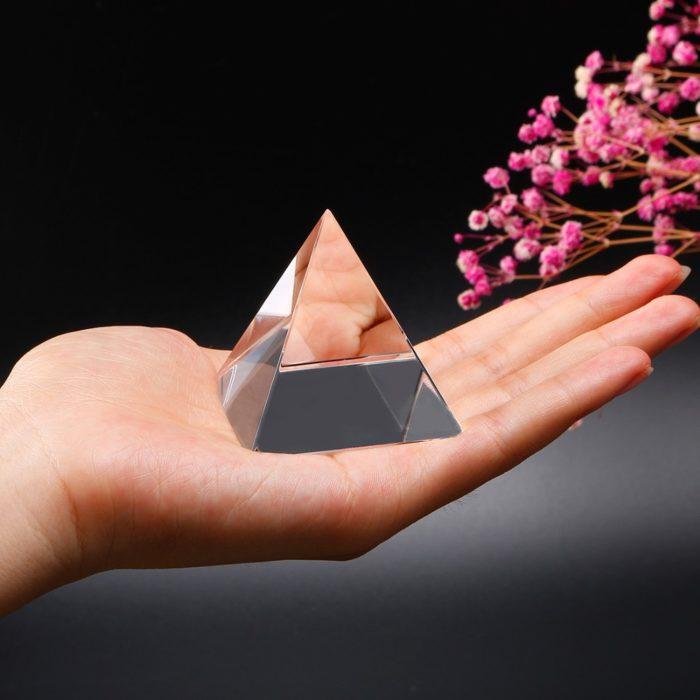 Pyramid Energy Healing Crystal Ornament Home Decor