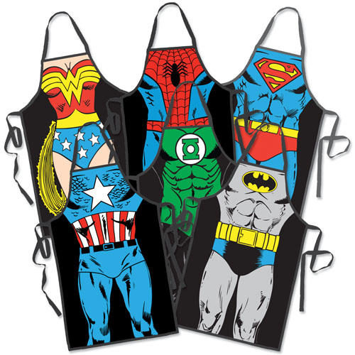 Funny Superhero Cooking Apron