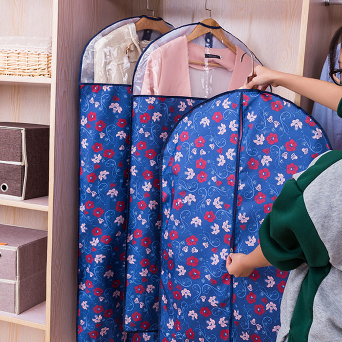Clear Travel Rolling Hanging Garment Clothes Storage Bags
