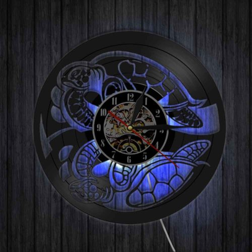 Creative LED Decorative Unique Black Wall Clock