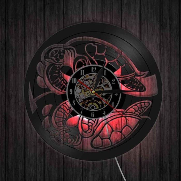 Creative LED Decorative Unique Black Wall Clock
