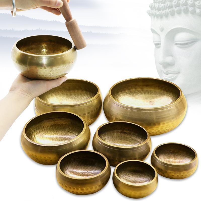 The Tibetan Buddhist Nepal Meditation Prayer Singing Bowl