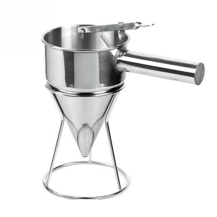 Stainless Steel Metal Funnel Cake Mix Maker Tool