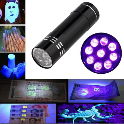 Portable LED Black Light Ultraviolet Stinger Flashlight
