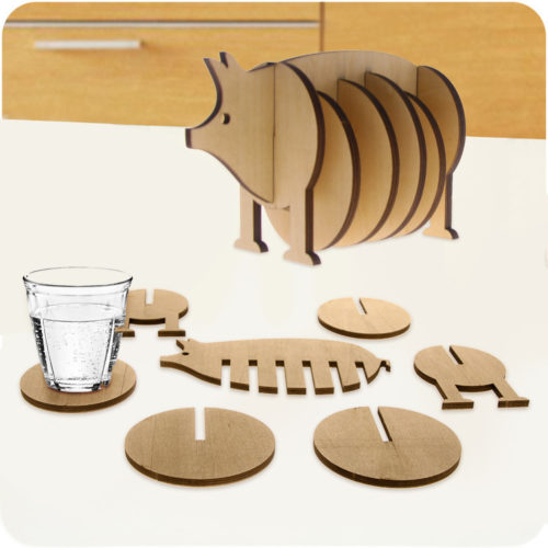 Cool Glass Beverage Coffee Cup Drink Coaster