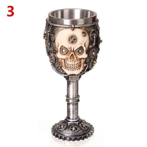 Cool Unique Decorative Stainless Steel Wine Goblet