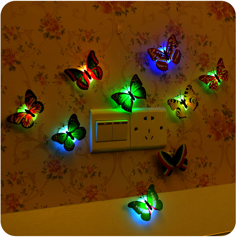Unique Kids Room: Unique Decorative Kids Nursery Wall Stick On Night Light