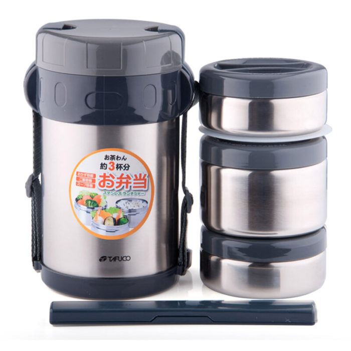 Cool Stainless Steel Compartment Bento Insulated Lunch Box