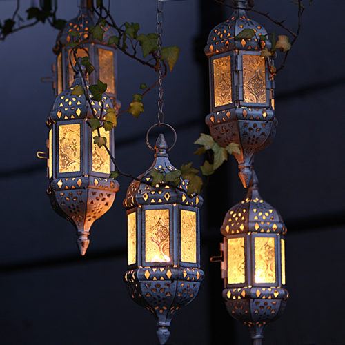 Moroccan Hanging Glass Tea Light Candle Holders