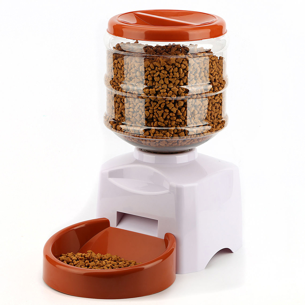 Automatic Timed Cat Dog Pet Feeder Food Dispenser Life