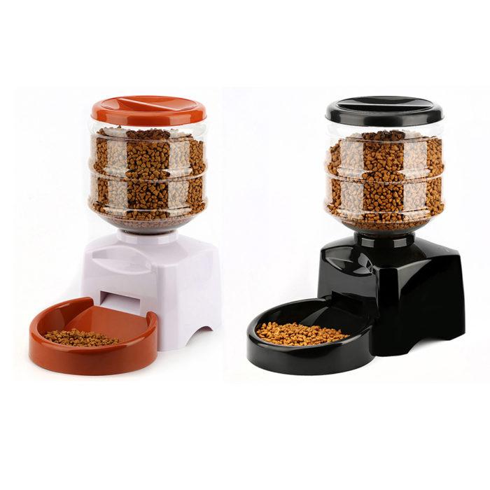 Automatic Timed Cat Dog Pet Feeder Food Dispenser
