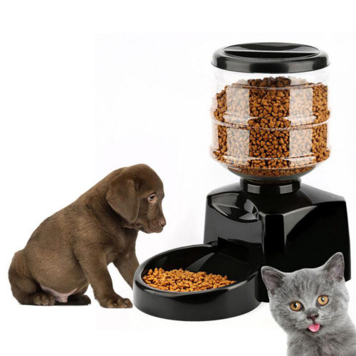 Automatic Timed Cat Dog Pet Feeder Food Dispenser