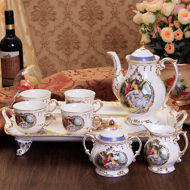 European Style Bone China Porcelain Tea Coffee Set