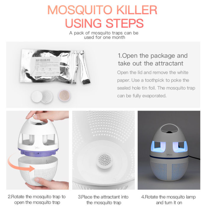 Electronic Mosquito Trap Insect Bug Killer Lamp