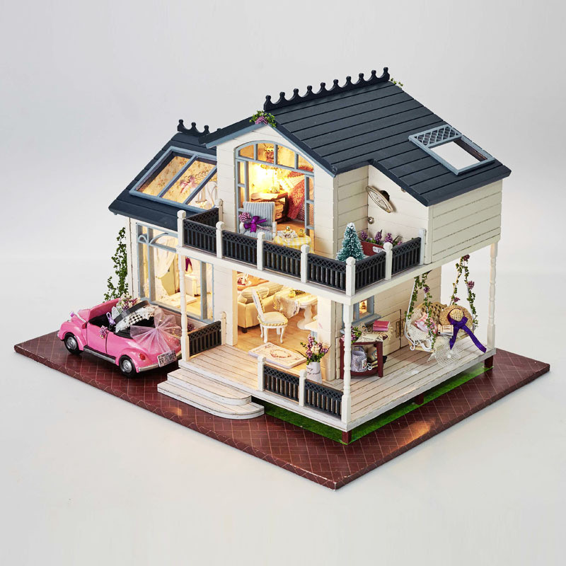 Vintage Winter Walk Miniature Dollhouse Picture