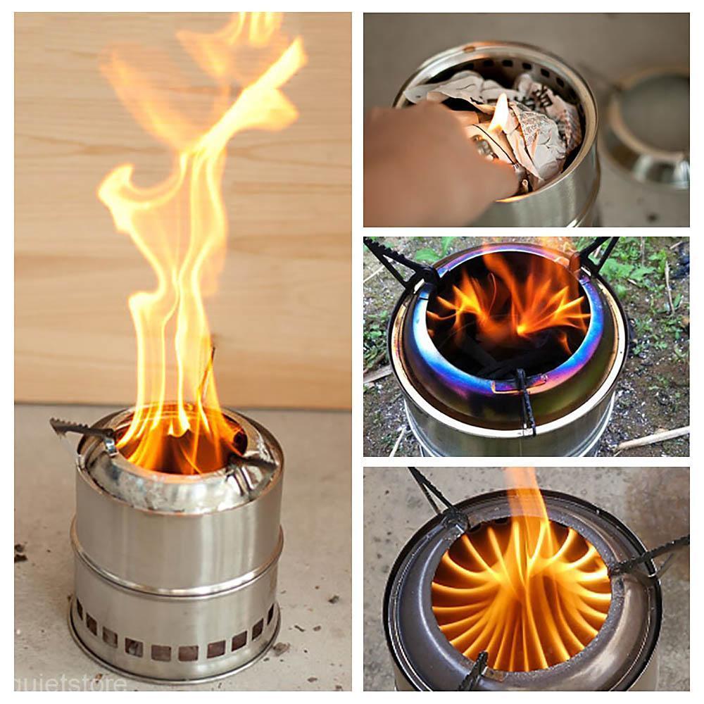 Portable Camping Small Wood Burning Stove Life Changing