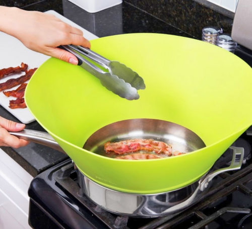 Splatter Guard Silicone Splatter Screen Kitchen Tool