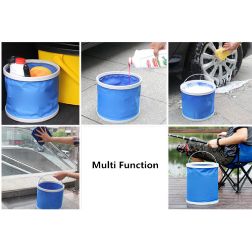 11L Portable Collapsible Folding Water Bucket