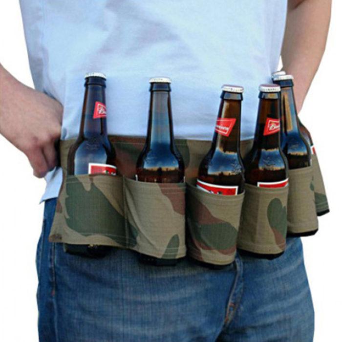 Beer Belt Camo Beer Holster 6can