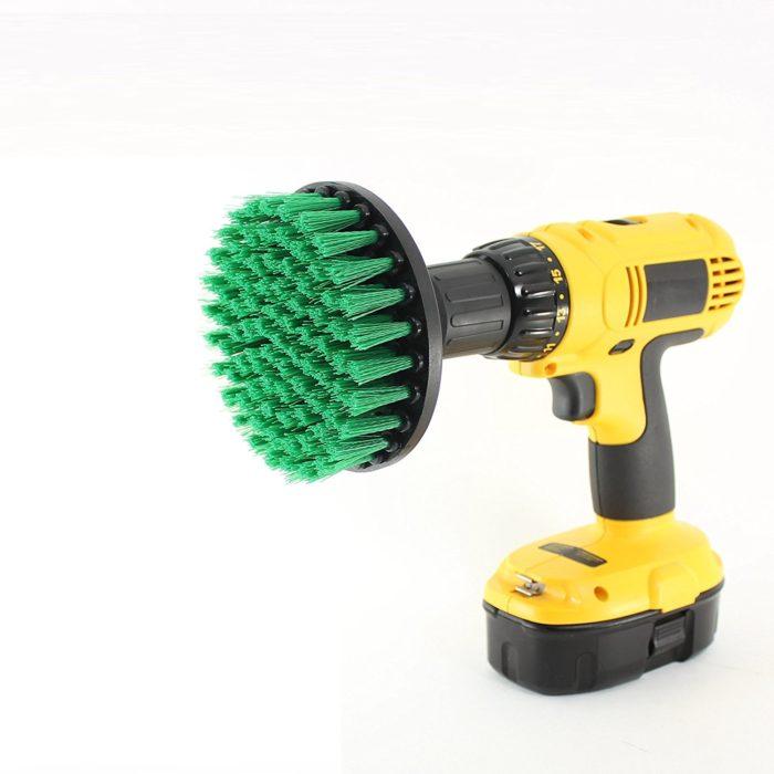 Drill-Powered Cleaninig Brush